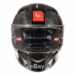 MT KRE Snake Carbon Fibre Full Face Motorcycle Motorbike Helmet Lightweight New