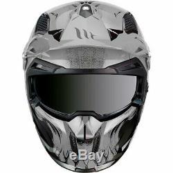 MT Streetfighter Darkness Matt Grey Modular Motorcycle Helmet Removable Mask