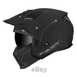 MT Streetfighter Matt Black Modular Motorcycle Helmet With Removable Mask