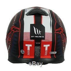 MT Thunder 3 ISLE OF MAN TT RACES Motorcycle Crash Helmet -RED + Pinlock
