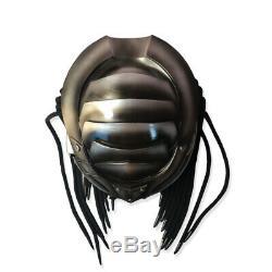 Masei Full Face Predator Helmet Custom Motorcycle Iron Blood Warrior Gray