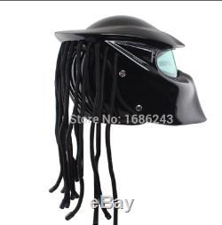 Masei Full Face Predator Helmet Custom Motorcycle (approved DOT) Bright Black #