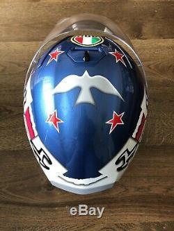 Mens motorcycle helmet AGV Guy Martin. Extra Dark Visor. Size Medium/Large 58