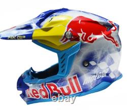 Motocross Adults Motorcycle Helmet Redbull Moto GP Red Bull