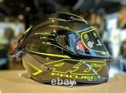 Motorcycle Full Face Helmet AGV Pista GP R Project 46 Model Design Carbon Fibre