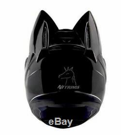 Motorcycle Helmet Ears Cat Women Motocross Full Face Helmet Moto Black Collor Nw