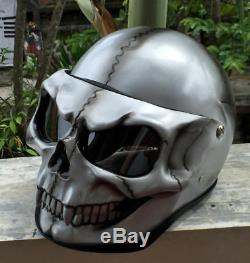 Motorcycle Helmet Skull Monster Death Visor Flip Up Ghost Rider Full Face D11