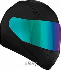 Motorcycle Helmet with Bluetooth Headset installed + Iridium Shield