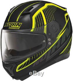 NEW NOLAN N87 N-COM FULL FACE Motorcycle Motorbike Helmet HARP FLAT BLACK YELLOW