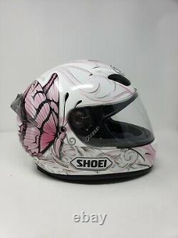 NEW Shoei Small 55-56 cm 6 7/8-7 RF 1000 Pink Butterfly Ladies Motorcycle Helmet