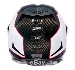 NEXX X. R2 White Carbon Fiber XR2 Full Face Racing Motorcycle Helmet S M L XL +
