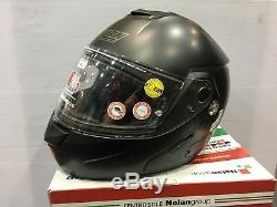 NOLAN N90-2 CLASSIC N-COM FLIP UP MODULAR Motorcycle Motorbike Helmet MATT BLACK