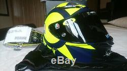 New AGV Pista GP-R Soleluna Carbon Motorbike Helmet Rossi VR46 Motogp Size MS 57