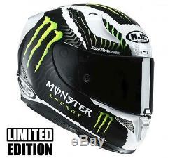 New HJC Rpha 11 Monster Full Face Motorbike Helmet Military White Sand MC-4