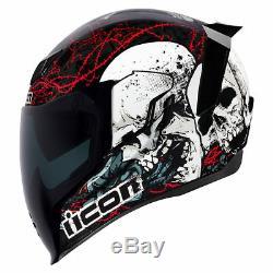 New Icon Airflite Skull18 Motorcycle Helmet All Sizes Street Stunt Race