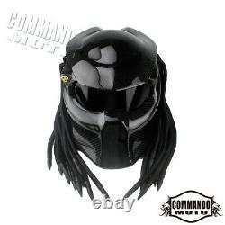 New Predator Carbon Fiber Motorcycle Helmet Full Face Iron Warrior Man Helmet