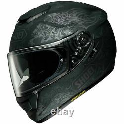 New Shoei GT AIR Fable TC 5 Grey Motorcycle Helmet with drop down visor