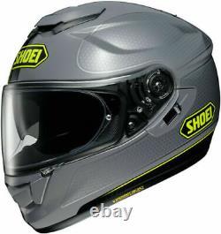 New Shoei GT AIR Wanderer 2 TC10 Grey Motorcycle Helmet with drop down visor