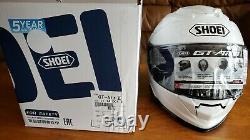 New Shoei GT Air 2 Motorcycle Bike Helmet White Large L GT-Air II Full Face Sun