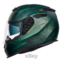 Nexx SX100 Toxic Matt Green Motorcycle Motorbike Full Face Helmet All Sizes