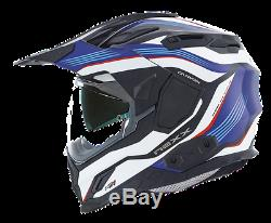 Nexx X. D1 Adventure DVS Dual Sport Motorcycle Helmet Canyon Blue- XD 1 + Pinlock