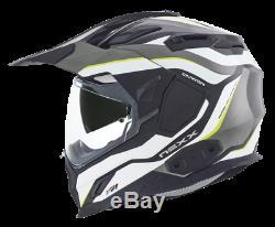 Nexx X. D1 Adventure DVS Dual Sport Motorcycle Helmet Canyon Neon Yellow + Pinlok