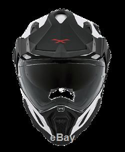 Nexx X. D1 -White Adventure DVS Motorcycle Helmet Arctic white XD 1 Dual sport