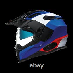 Nexx X WED 2 DUNA Blue Adventure DVS Dual Sport Motorcycle Helmet