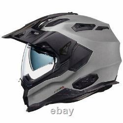 Nexx X WED 2 Matt Dark Grey Adventure DVS Dual Sport Motorcycle Helmet M