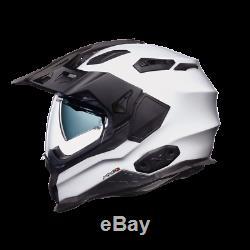 Nexx X WED 2 Plain White Adventure DVS Dual Sport Motorcycle Helmet