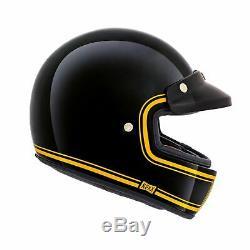 Nexx XG100 Motorcycle Motorbike Retro Full Face Helmet Devon Black Yellow