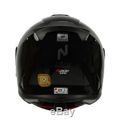 Nitro N3100 Blackout Motorcycle Fibre Glass Helmet Gloss Black + Free Dark Visor