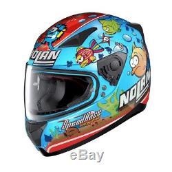Nolan N60 N60-5 Melandri Aqua Blue Motorcycle Motorbike Helmet Limited Edition