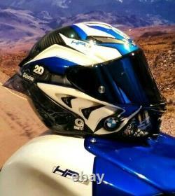 Pista Gpr Moto Gp Bmw S1000rr Hp4 Ag Motorcycle Full Face Helmet Motorbike Blue