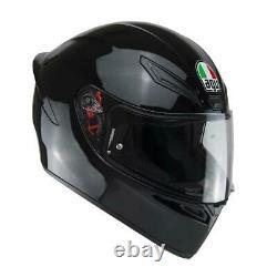 Pre-order AGV K1 GLOSS BLACK MOTORCYCLE TRACK ACU GOLD CRASH HELMET PISTA RACE