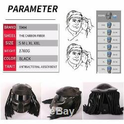 Predator Carbon-Fibre Motorcycle Helmet D. O. T Approved. SIZE (S)