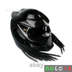 Predator Helmet Carbon Fiber Iron Man Full Face Motorcycle Helmet L (59-60 cm)
