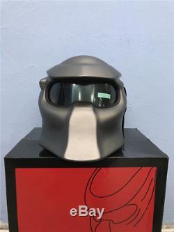 Predator Helmet Motorcycle Full Face LED Lights Motocross Masei matte gray Cool