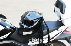 Predator Motorcycle Helmet Carbon Fiber Full Face Iron Man Helmet withvisor DOT