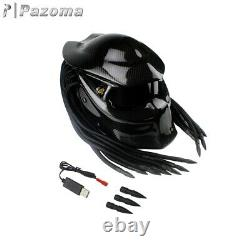Predator Motorcycle Helmet Full Face Iron Warrior DOT Custom Predator Men Helmet
