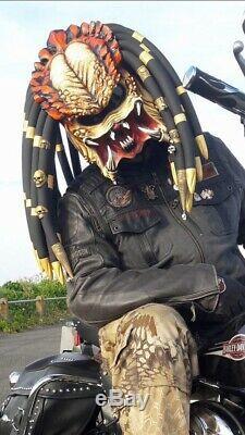 Predator motorcycle helmet from Etsy