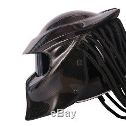 Predators Carbon Fiber Full Face Iron Man Alien Mask Motorcycle Moto Helmet DOT