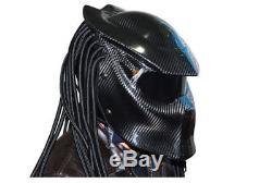 Predators Mask Carbon Fiber Neca Motorcycle Helmet Full Face Iron Man Safety DOT
