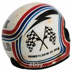 Premier Helmets MX BTR 8 BM Full Face Classic Retro Motorcycle Motorbike Helmet