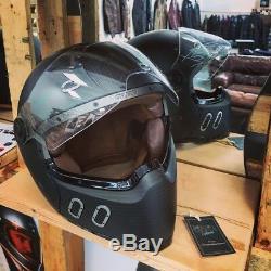 Qwart Phoenix Standard motorcycle helmet (with Visor) Matt Carbon