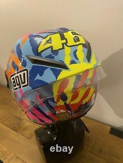 RARE AGV CORSA V. ROSSI LTD ED MISANO Hands 2014 MOTORCYCLE Crash Helmet Sz M/L