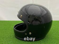 RARE Vintage 1970's BELL STAR 120 Full Face Motorcycle HELMET BLACK + 540 VISOR