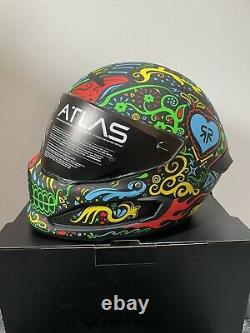 RUROC Altas 3.0 Cinco De Madness BRAND NEW Carbon Fibre Motorcycle Helmet