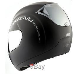 Reevu RV MSX1 Rear View Vision Full Face Motorcycle Helmet Matt Black