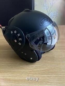 Roof Boxer V 8 Flip Up Full Face Full Matt Black Motorcycle Motorbike Helmet V8